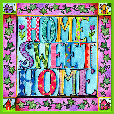 Painting - Home Sweet Home by Pamela  Corwin