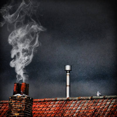 Chimney Photograph - Home Sweet Home by Piet Flour