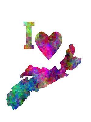 Province Mixed Media - Home Sweet Nova Scotia by Kathleen Sartoris