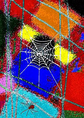 Spider Legs Mixed Media - Home Sweet Spider Home by Mimo Krouzian