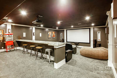 Photograph - Home Theater Room by Richard Lynch