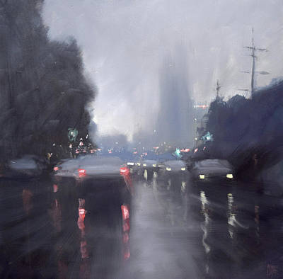 Painting - Home-time Rain by Mike Barr