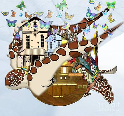 Reptiles Drawings - Home Within Home by Belinda Threeths