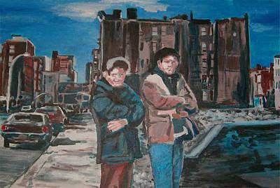 Wall Art - Painting - Homeboys by Wayne Pearce