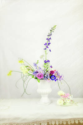 Photograph - Homegrown Floral Bouquet by Susan Gary