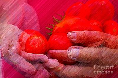 Homegrown Red Ripe Tomatoes Art Print by Lewis Lang