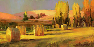 Wheat Painting - Homeland 3 by Steve Henderson
