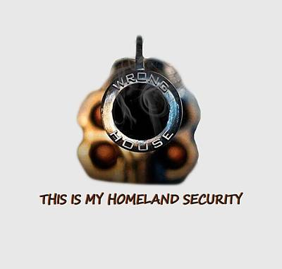 Manipulation Photograph - Homeland Security by EricaMaxine  Price