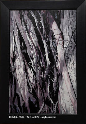 Tree Roots Painting - Homeless But Not Alone by Ankita Joshi