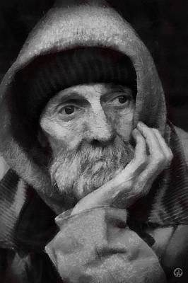 Digital Art - Homeless by Gun Legler