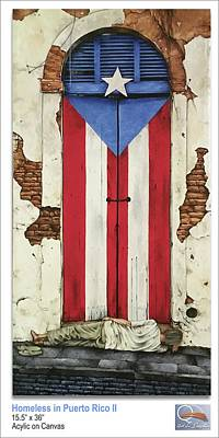 Borinquen Painting - Homeless In Puerto Rico II by Kenneth Santos