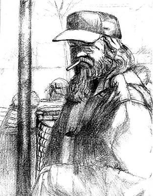 Homeless In Santa Cruz Original by Lynn Rogers