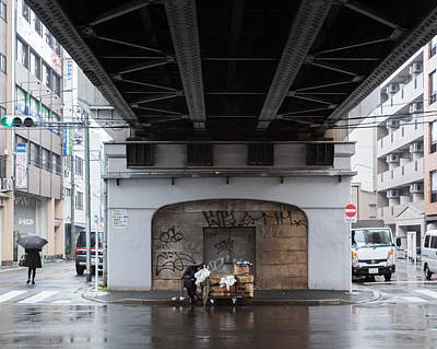 Photograph - Homeless In Tokyo by Rich Legg
