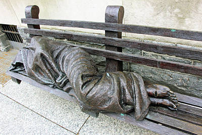 Photograph - Homeless Jesus by Cora Wandel