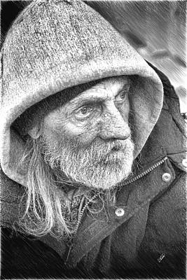 Outreach Painting - Homeless Man - Ppl844210 by Dean Wittle