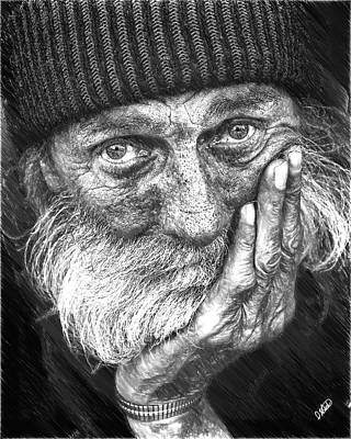 Outreach Painting - Homeless Man - Ppl884207 by Dean Wittle