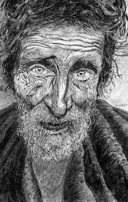 Drawing - Homeless Mr. Craig by Quwatha Valentine