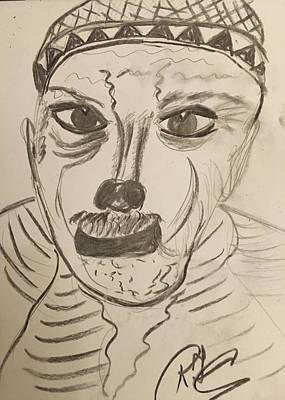 Drawing - Homeless by Roger Cummiskey