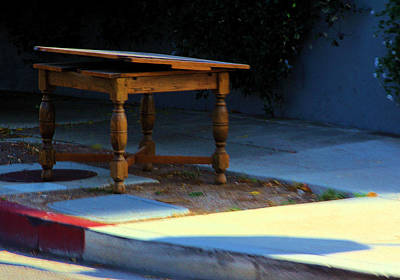 Photograph - Homeless Table by Viktor Savchenko