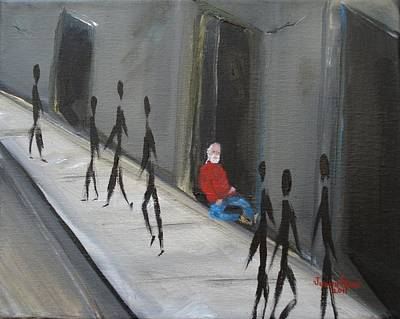 Painting - Homeless Vet by Judith Rhue