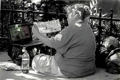 Photograph - Homeless With A Laptop by John Haldane
