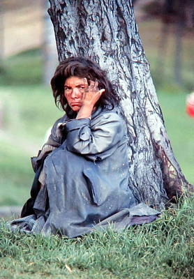 Waif Photograph - Homeless Woman by Daniel Gomez