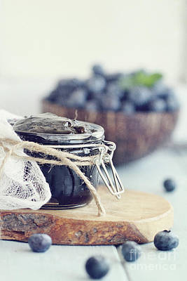 Photograph - Homemade Blueberry Preserves And Fruit by Stephanie Frey