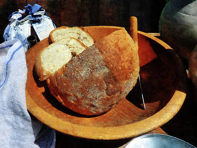 Wooden Bowls Photograph - Homemade Bread by Susan Savad