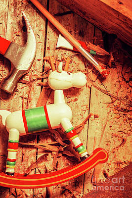 Rocking Chairs Photograph - Homemade Christmas Toy by Jorgo Photography - Wall Art Gallery