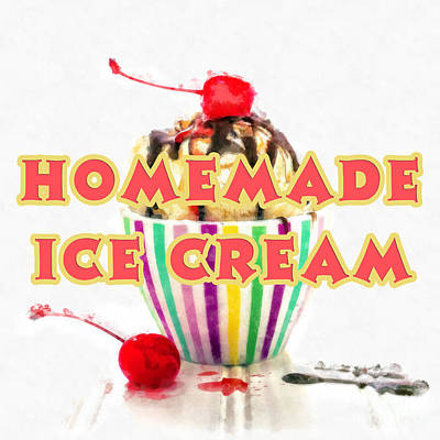 Painting - Homemade Ice Cream by Edward Fielding