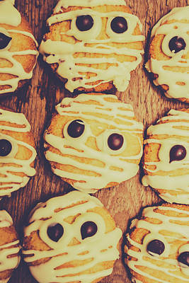 Tasty Photograph - Homemade Mummy Cookies by Jorgo Photography - Wall Art Gallery