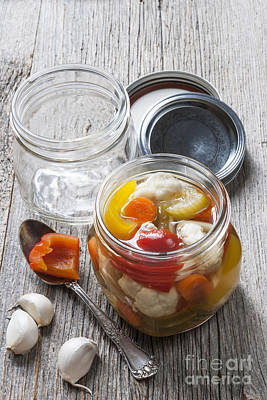 Open Photograph - Homemade Preserving by Elena Elisseeva