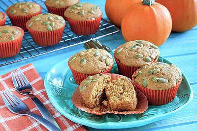 Photograph - Homemade Pumpkin Muffins by Teri Virbickis