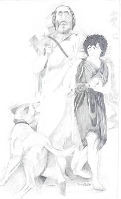 Homer And Glaucus Mount Ida Art Print