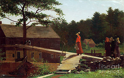 Painting - Homer, Morning Bell, 1870 - To License For Professional Use Visit Granger.com by Granger