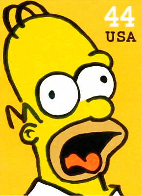 Character Portraits Painting - Homer Simpson by Lanjee Chee