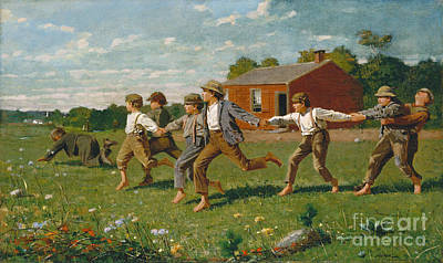 Painting - Homer, Snap The Whip, 1872  - To License For Professional Use Visit Granger.com by Granger