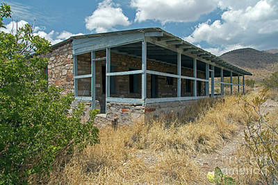 Photograph - Homer Wilson Blue Creek Ranch House by Fred Stearns