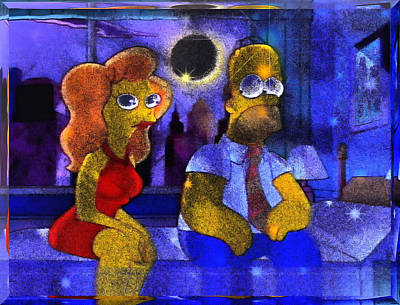 Digital Art - Homer's New Love by Mario Carini