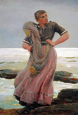 Prout's Neck Photograph - Homer's Woman In A Light On The Sea by Cora Wandel