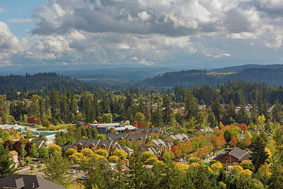 Photograph - Homes In Happy Valley Oregon During Fall Season by David Gn