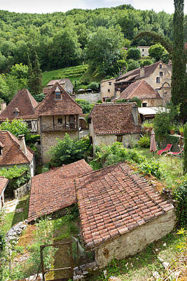 Photograph - Homes In Saint Circ Lapopie In France by Semmick Photo