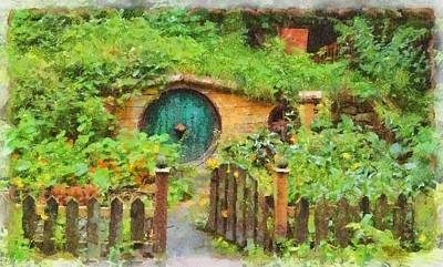 Holy Ring Painting - Homes Of The Shire Folk by Sarah Kirk