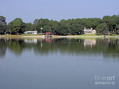 Photograph - Homes Reflected On The Lake by D Hackett