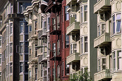 Photograph - Homes Townhouses In The North Beach District  by Jim Corwin