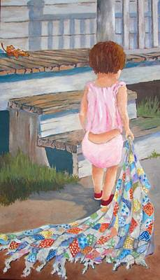 Painting - Homespun Annie by Tony Caviston