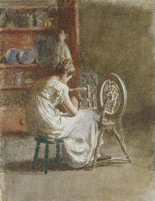 Drawing - Homespun by Thomas Eakins