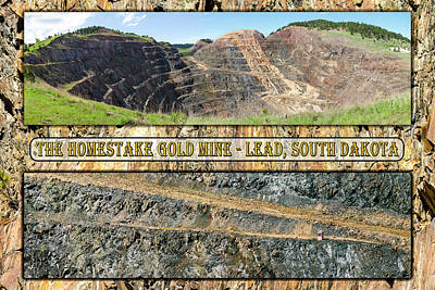 Photograph - Homestake Gold Mine by Mike Braun