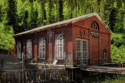 Photograph - Homestake Mine Hydro Plant 2 - Spearfish Canyon South Dakota by Frank J Benz