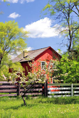 Rural Life Painting - Homestead At Old World Wisconsin by Christopher Arndt
